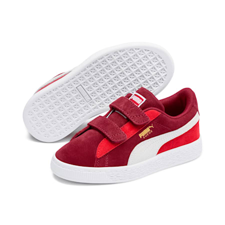 Suede Classic Little Kids' Shoes, Rhubarb-Puma W-High Risk Red, small