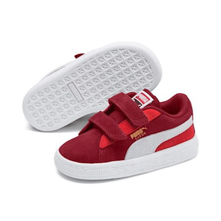Suede Classic Toddler Shoes, Rhubarb-Puma W-High Risk Red, small