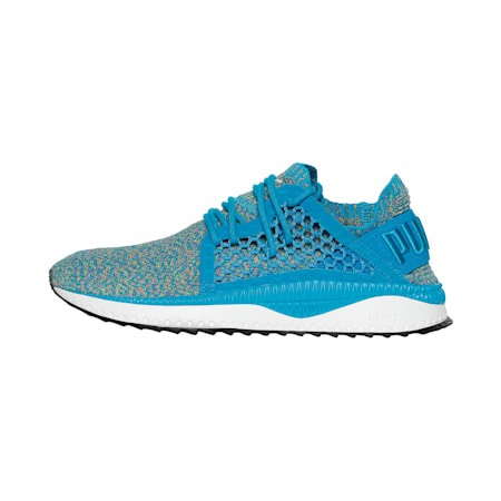 TSUGI NETFIT evoKNIT Shoes, Hwai Srf-NrgYel-Rpt Rse-PWht, small-IND