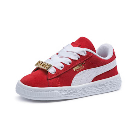 Suede Classic B-BOY Fabulous Baby Trainers, Flame Scarlet-Puma White, small-SEA