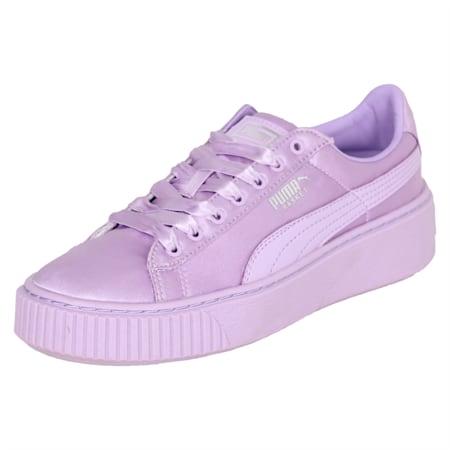 Basket Platform Tween Kids' Training Shoes, Purple Rose-Purple Rose, small-IND