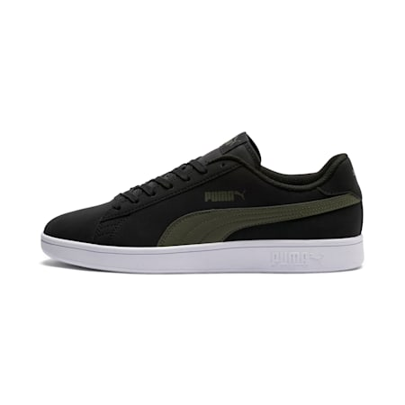 PUMA Smash v2 Buck Trainers, Puma Black-Forest Night, small