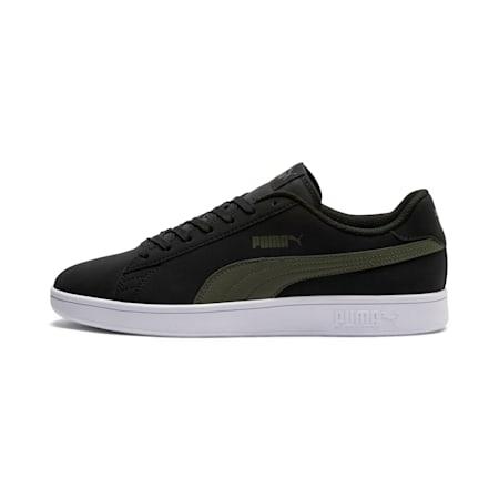 Smash v2 Buck Sneaker, Puma Black-Forest Night, small