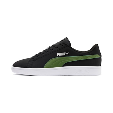 PUMA Smash v2 Buck Sneakers, Black-G Green-Silver-White, small-IND
