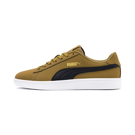 PUMA Smash v2 Buck Sneakers, Moss Green-Black-Gold-White, small-IND