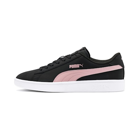 PUMA Smash v2 Buck Trainers, Puma Black-Bridal Rose-White, small