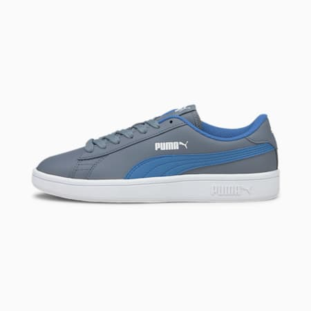 Puma Smash v2 Youth Trainers, Flint Stone-Star Sapphire, small