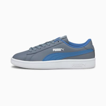 PUMA Smash v2 Leather Kid's Sneakers, Flint Stone-Star Sapphire, small-IND