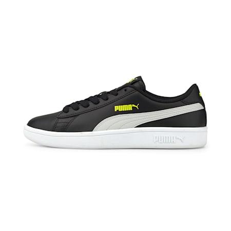 PUMA Smash v2 Leather Kid's Sneakers, Puma Black-Gray Violet, small-IND