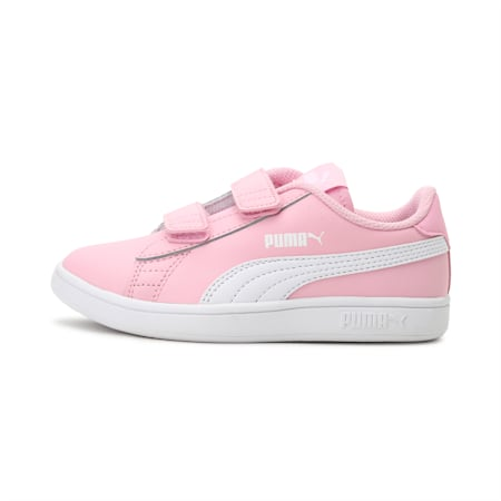 Smash v2 Leather Kids' Shoes, Pale Pink-Puma White, small-IND