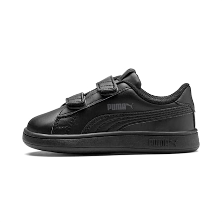 Smash v2 Kids' Trainers, Puma Black-Puma Black, small