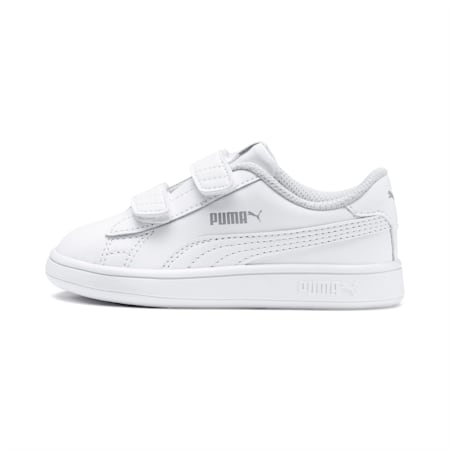 PUMA Smash v2 Toddler Shoes, Puma White-Puma White, small