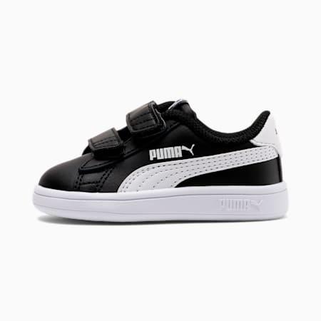 Scarpe Smash V2 bambino, Puma Black-Puma White, small