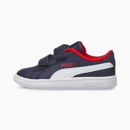 Smash v2 Kinder Sneaker, Peacoat-Puma White-High Risk Red, small