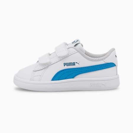 Zapatos PUMA Smash v2 para bebés, Puma White-Dresden Blue, pequeño