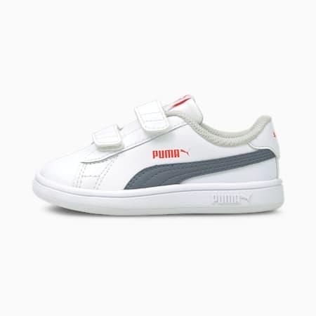 Dziecięce buty sportowe Smash v2, Puma White-Flint Stone, small