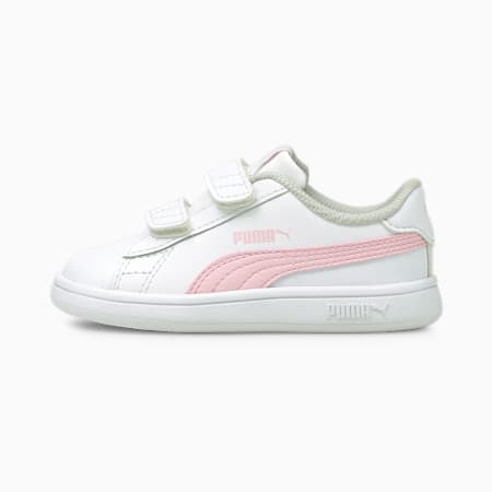 Dziecięce buty sportowe Smash v2, Puma White-Pink Lady, small