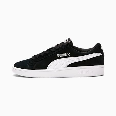 Zapatos deportivosSmash v2Suede JR, Puma Black-Puma White, pequeño