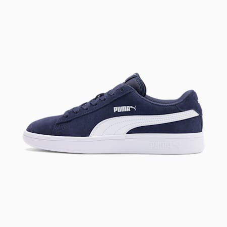 Smash v2 Suede Youth Sneaker, Peacoat-Puma White, small