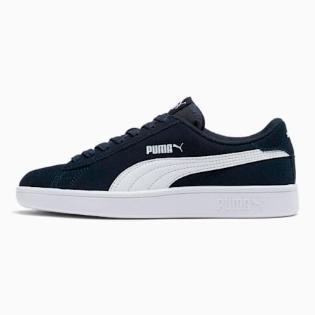 Zapatos deportivosSmash v2Suede JR, Peacoat-Puma White, pequeño