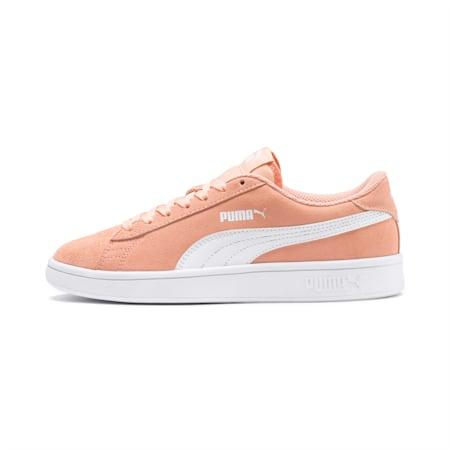Smash v2 Suede Sneakers JR, Peach Parfait-Puma White, small
