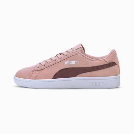 Smash v2 Suede Youth Sneaker, Peachskin-Burgundy, small
