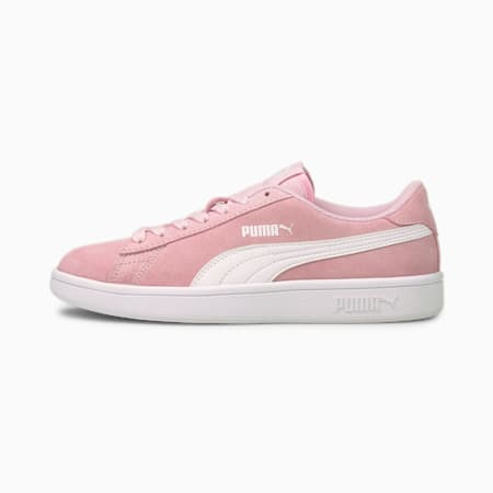 Smash v2 Suede Jr Trainers, Pink Lady-Puma White, small