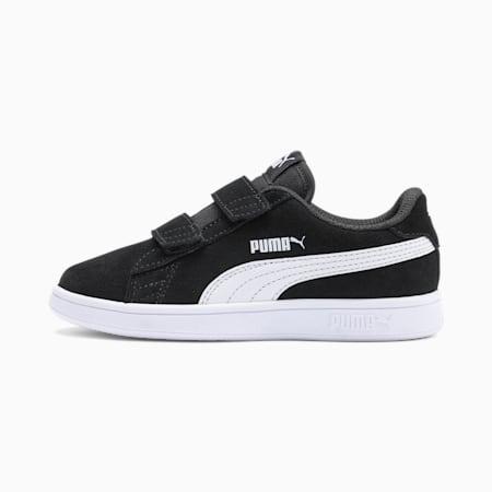 Smash v2 Suede Kids Sneaker, Puma Black-Puma White, small
