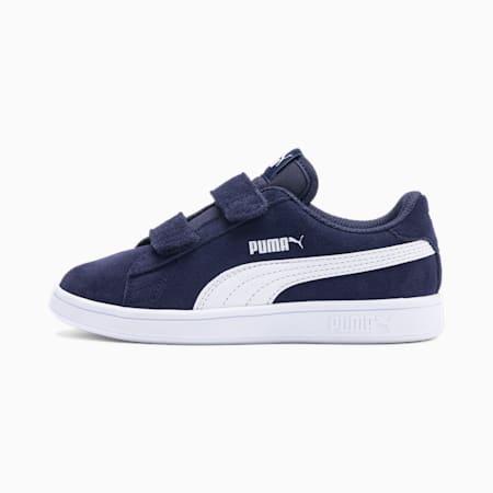 Dziecięce buty sportowe Smash v2 Suede, Peacoat-Puma White, small