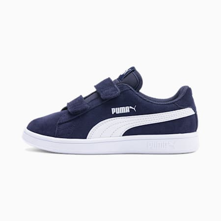 Smash v2 Suede Kids' Trainers, Peacoat-Puma White, small-GBR