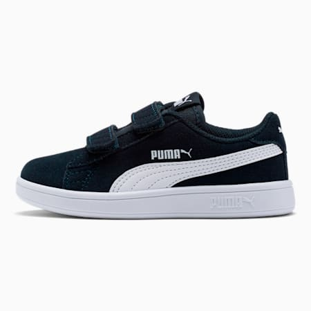 Smash v2 Suede Little Kids' Shoes, Peacoat-Puma White, small