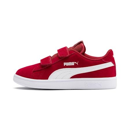 Smash v2 Suede Little Kids' Shoes, Rhubarb-Puma White, small