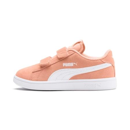 Smash v2 Suede Little Kids' Shoes, Peach Parfait-Puma White, small