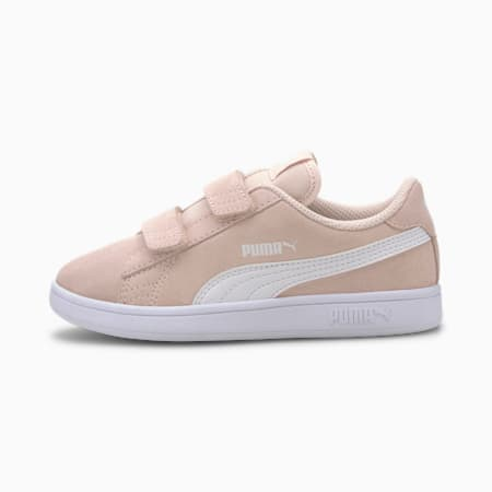 Smash v2 Suede Little Kids' Shoes, Rosewater-Puma White, small