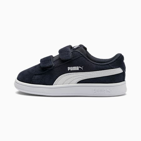 Smash v2 Suede Babies Sneaker, Peacoat-Puma White, small