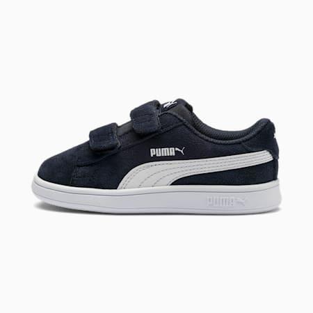 Smash v2 Suede tennisschoenen voor baby's, Peacoat-Puma White, small
