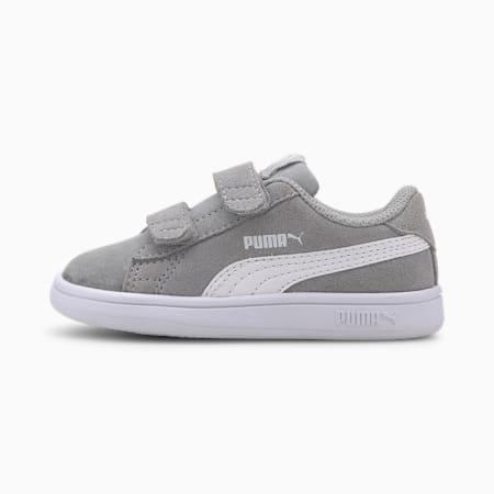 PUMA Smash v2 Suede Toddler Shoes, High Rise-Puma White, small