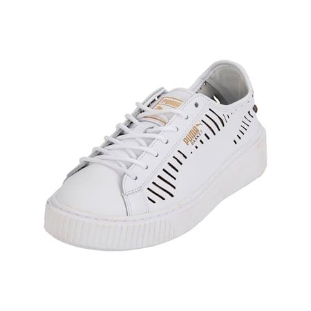 Basket Platform Summer Women's Shoes, Puma White-Puma White, small-IND
