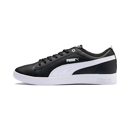 Smash v2 Leather Women's Trainers, Puma Black-Puma White, small