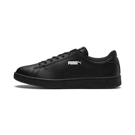 PUMA Smash v2 L Perforated Unisex Shoes, Puma Black-Puma Black, small-IND