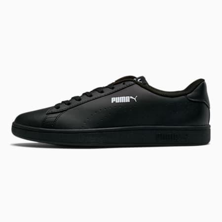 PUMA Smash v2 Leather Perf Sneakers, Puma Black-Puma Black, small