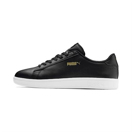 Smash v2 L Perf Shoes, Black-Puma Team Gold-White, small-IND