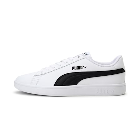 PUMA Smash v2  Unisex Sneakers, Puma White-Puma Black, small-IND