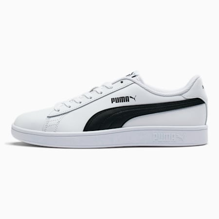 PUMA Smash v2 Men's Sneakers, Puma White-Puma Black, small