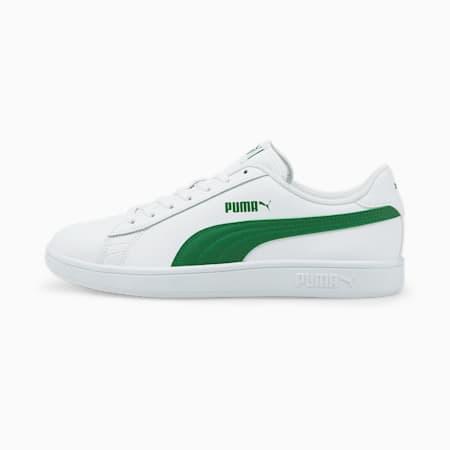 Puma Smash v2 L, Puma White-Amazon Green, small