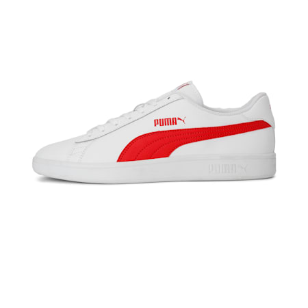 PUMA Smash v2  Sneakers, White-High Risk Red-Gray, small-IND
