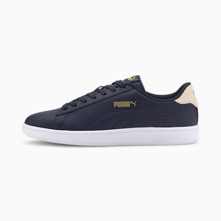 PUMA Smash v2  Sneakers, Peacoat-Tapioca-Gold-White, small-IND