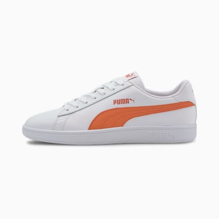 PUMA Smash v2  Sneakers, Puma White-Dragon Fire, small-IND