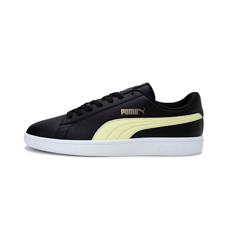 PUMA Smash v2  Sneakers, Black-Yellow-Gold, small-IND
