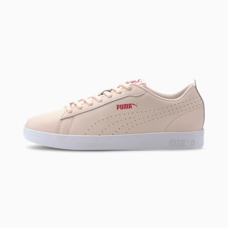 Smash Perf Leather Women's Sneakers, Rosewater-BRIGHT ROSE-White, small-IND